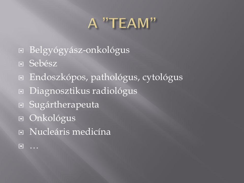 A TEAM Belgyógyász-onkológus Sebész