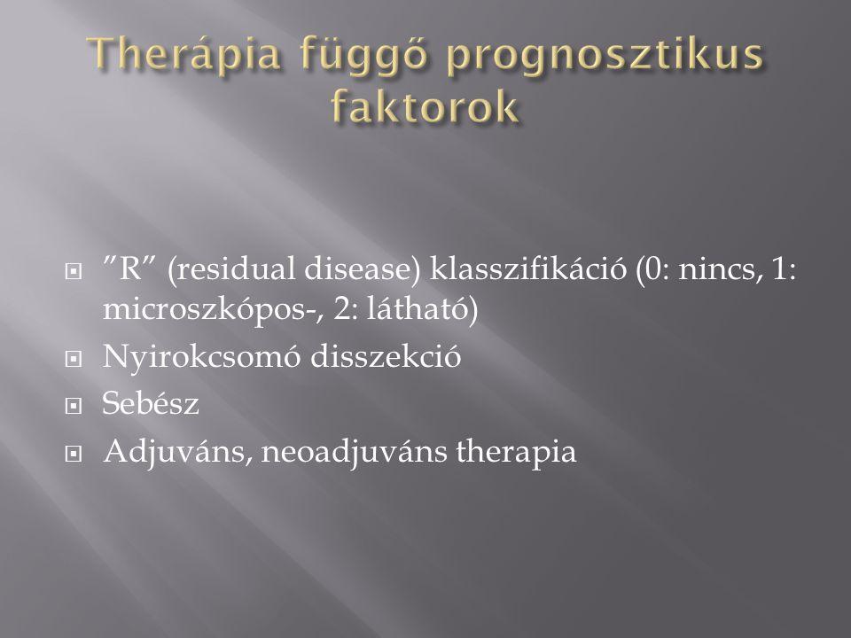 Therápia függő prognosztikus faktorok