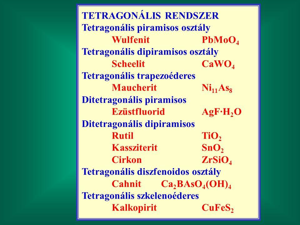 TETRAGONÁLIS RENDSZER
