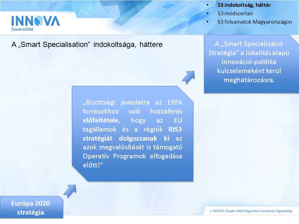 "A ""Smart Specialisation indokoltsága, háttere"
