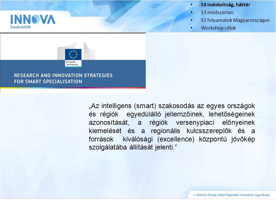 S3 indokoltság, háttér S3 módszertan. S3 folyamatok Magyarországon. Workshop célok.
