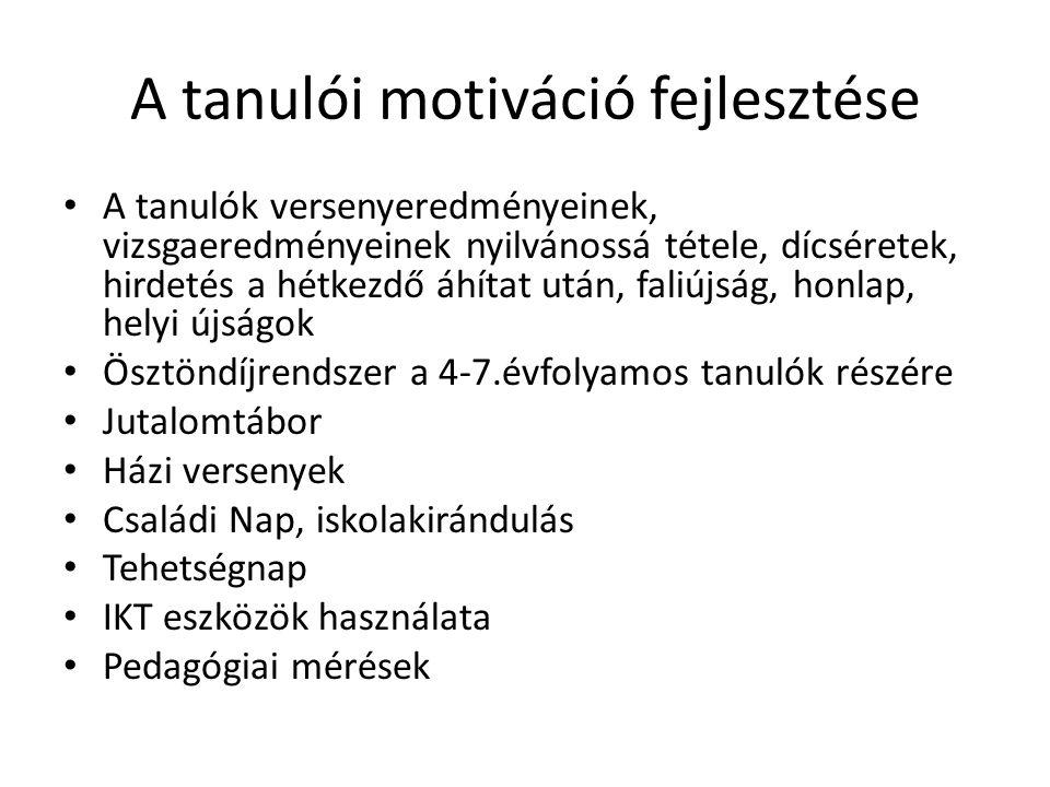 A tanulói motiváció fejlesztése
