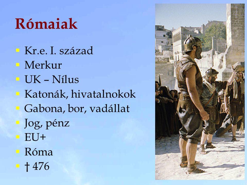 Rómaiak Kr.e. I. század Merkur UK – Nílus Katonák, hivatalnokok
