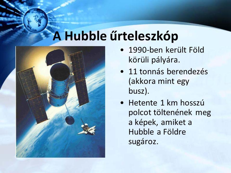 A Hubble űrteleszkóp 1990-ben került Föld körüli pályára.