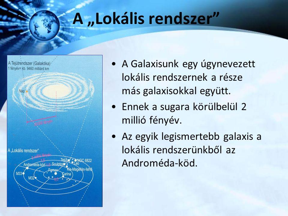 """A """"Lokális rendszer A Galaxisunk egy úgynevezett lokális rendszernek a része más galaxisokkal együtt."""