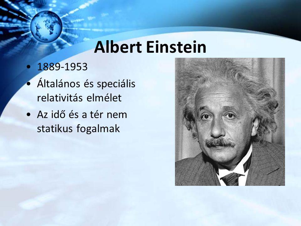 Albert Einstein 1889-1953 Általános és speciális relativitás elmélet