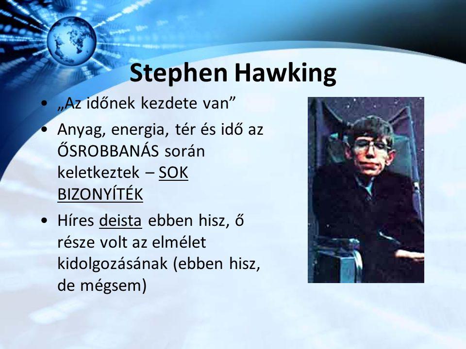 """Stephen Hawking """"Az időnek kezdete van"""