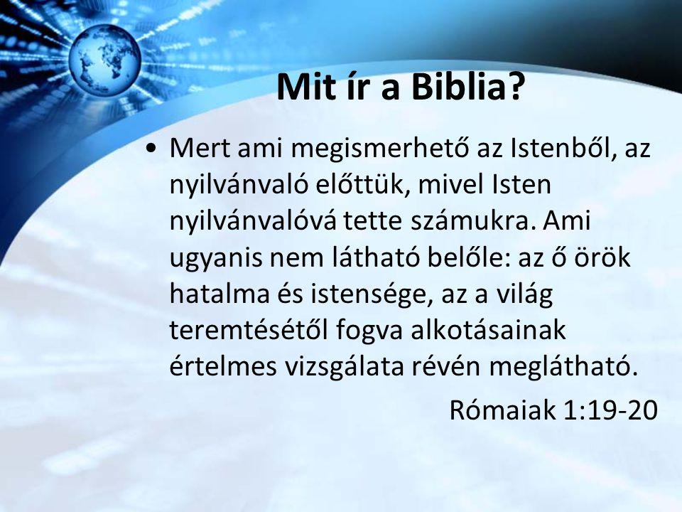 Mit ír a Biblia