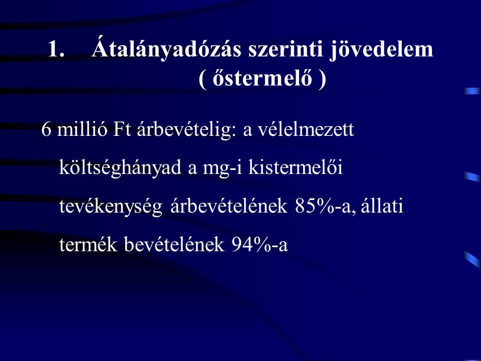 Átalányadózás szerinti jövedelem ( őstermelő )