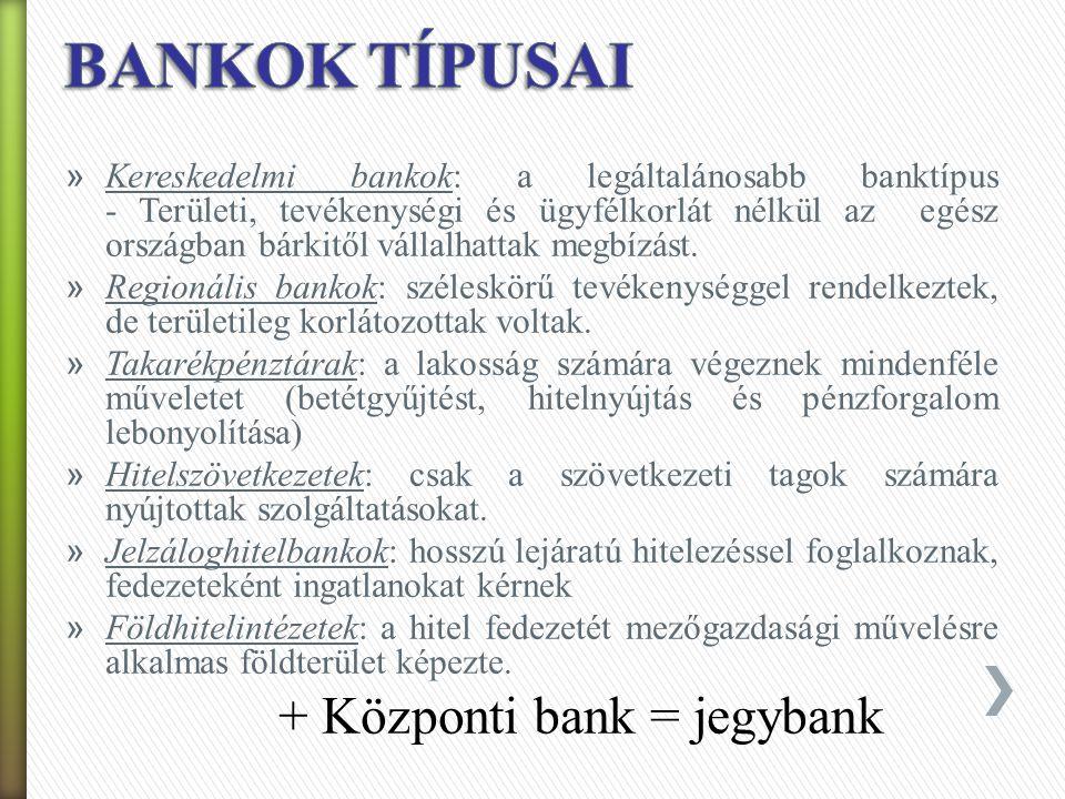 BANKOK TÍPUSAI
