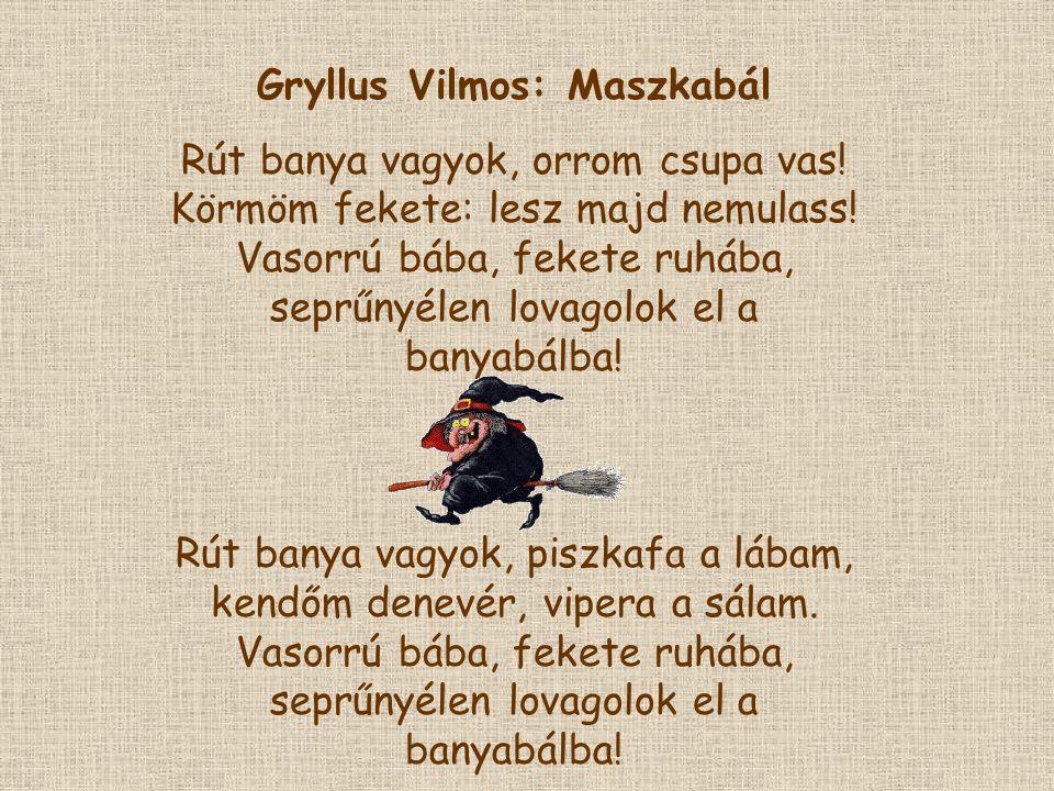 Gryllus Vilmos: Maszkabál