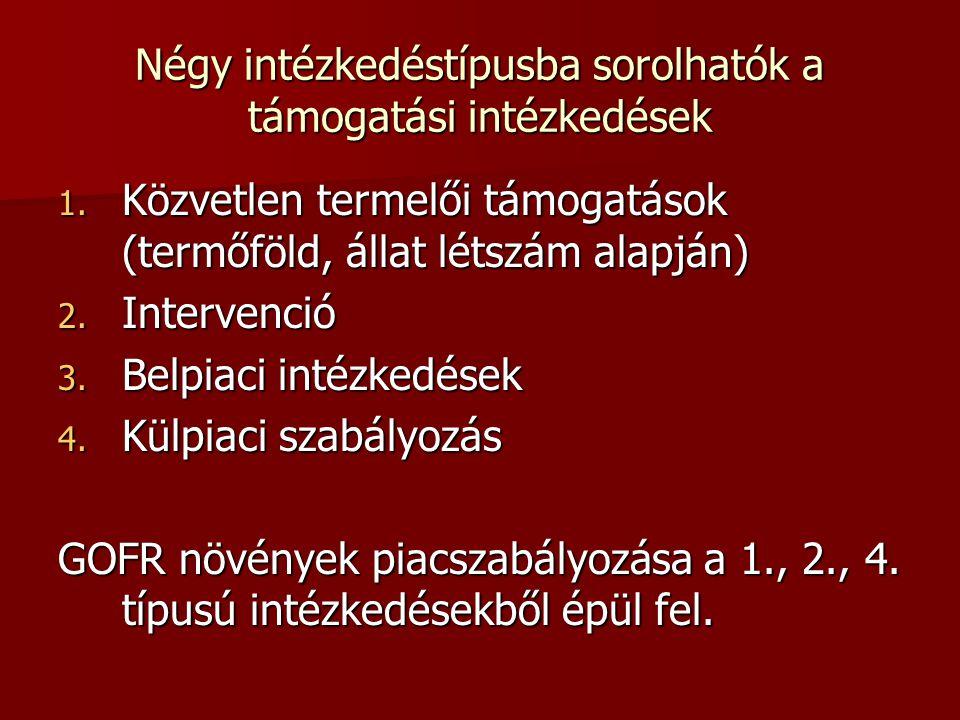 Négy intézkedéstípusba sorolhatók a támogatási intézkedések