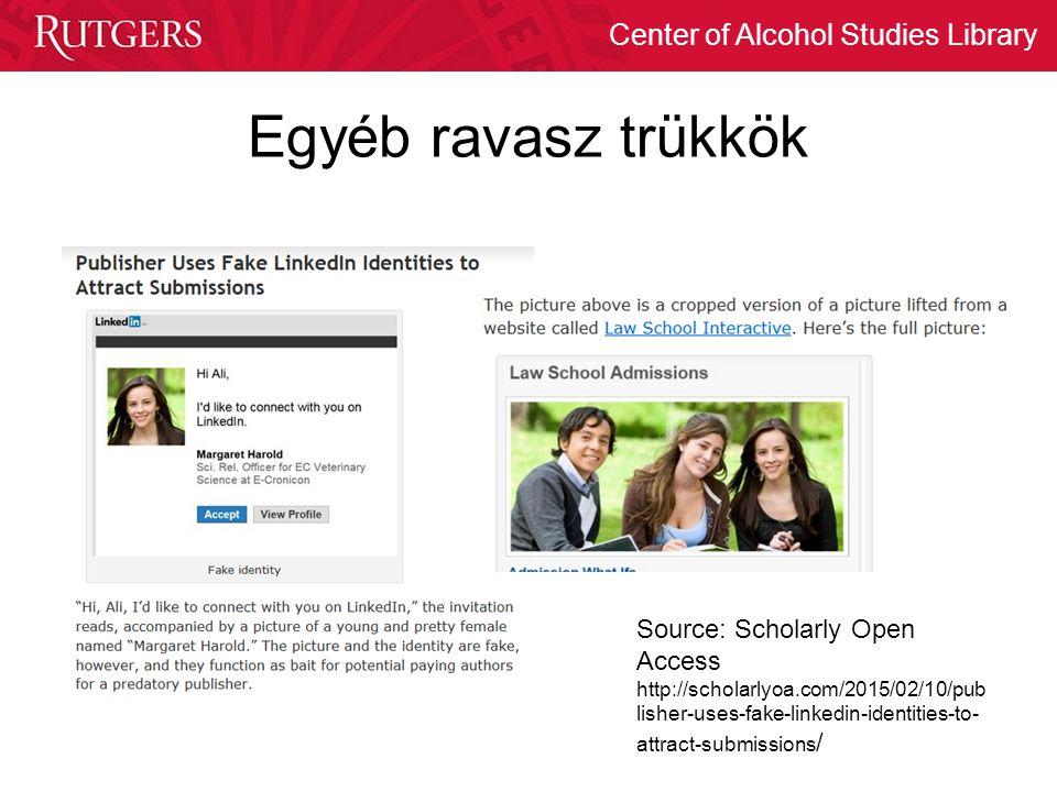 Egyéb ravasz trükkök Source: Scholarly Open Access