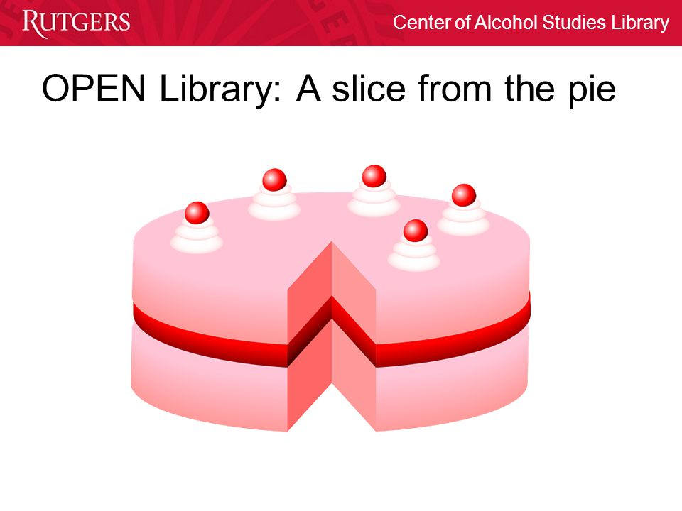 OPEN Library: A slice from the pie