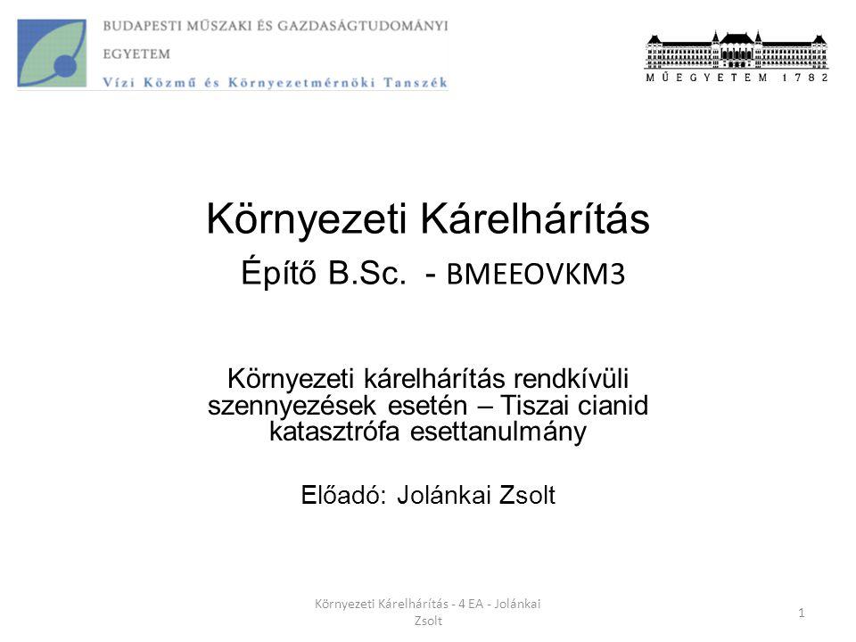 Környezeti Kárelhárítás Építő B.Sc. - BMEEOVKM3