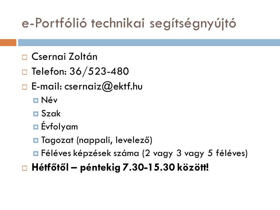 e-Portfólió technikai segítségnyújtó