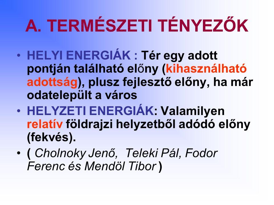 A. TERMÉSZETI TÉNYEZŐK