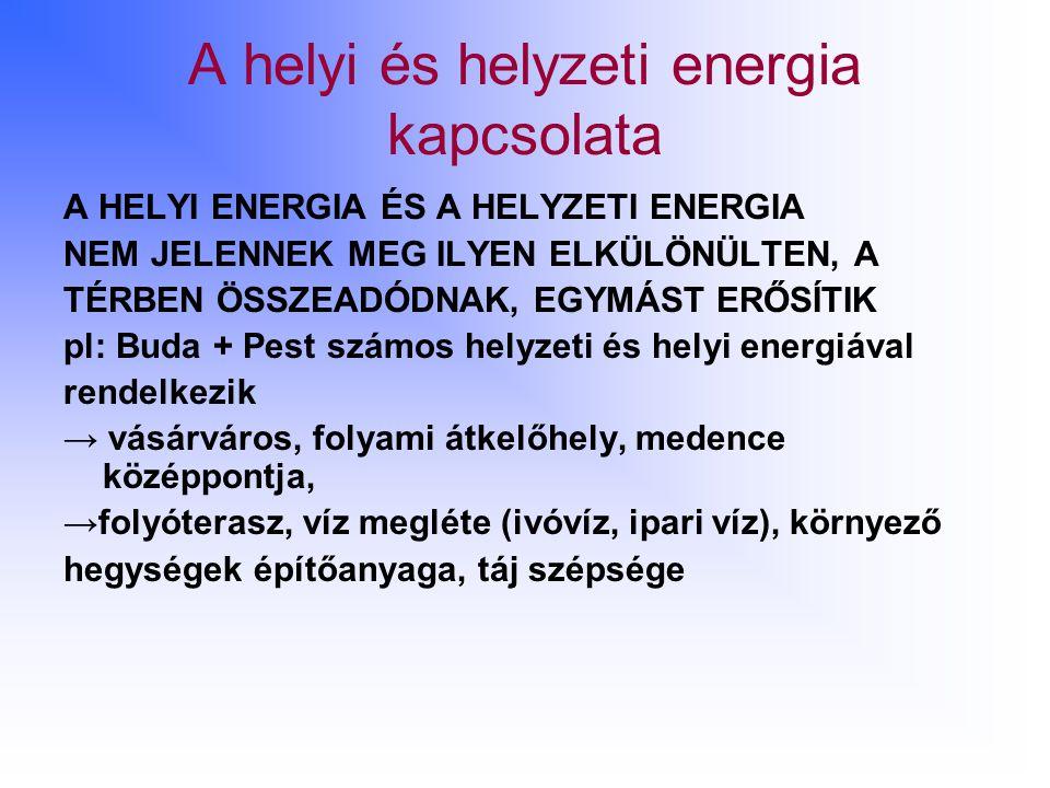 A helyi és helyzeti energia kapcsolata