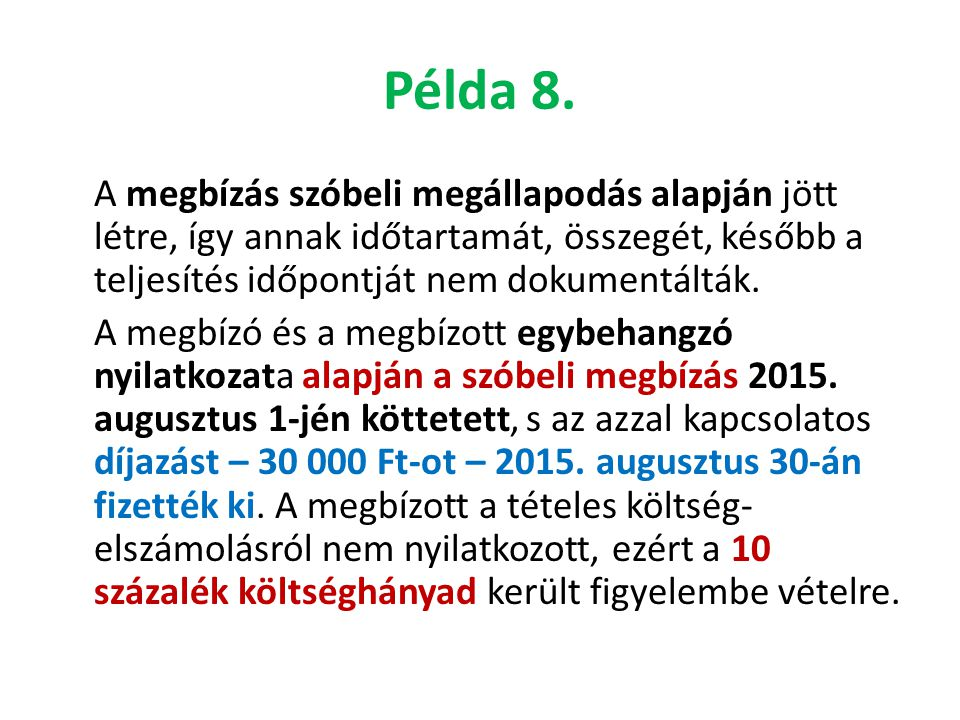 Példa 8.