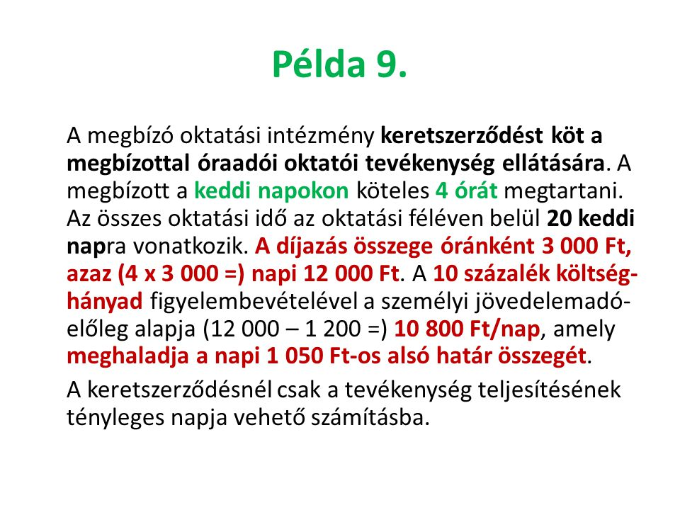 Példa 9.