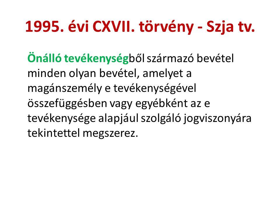 1995. évi CXVII. törvény - Szja tv.