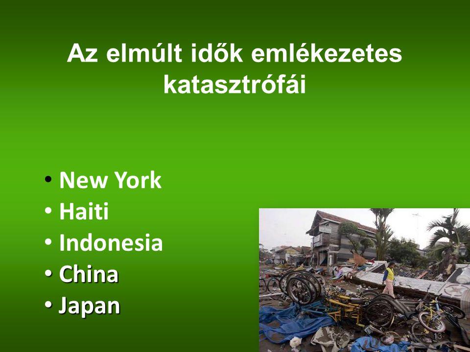 Az elmúlt idők emlékezetes katasztrófái