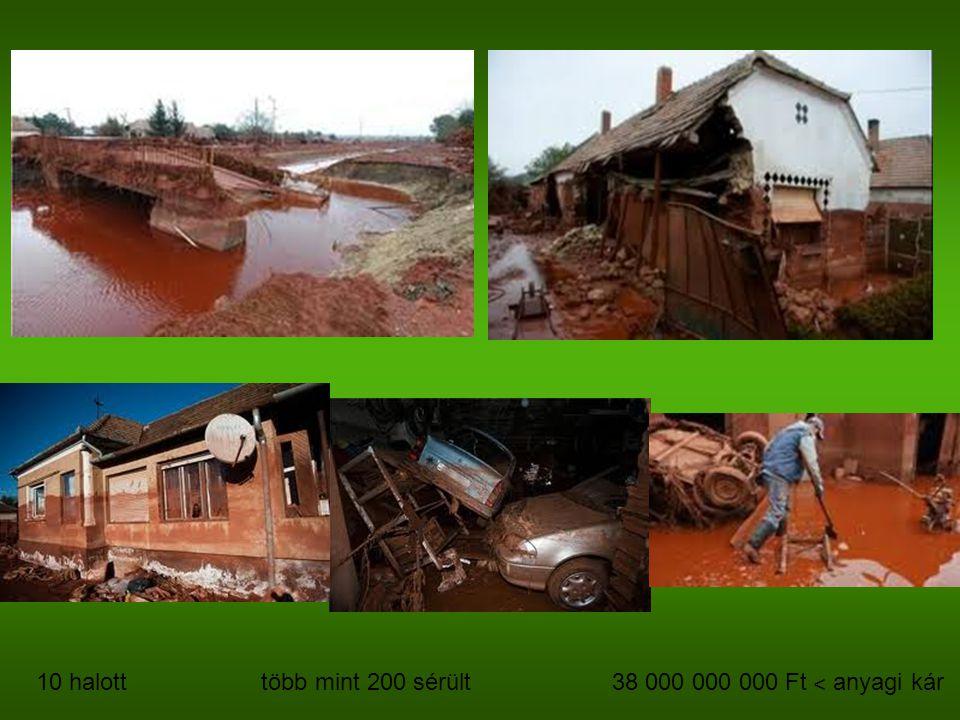 10 halott több mint 200 sérült 38 000 000 000 Ft ˂ anyagi kár