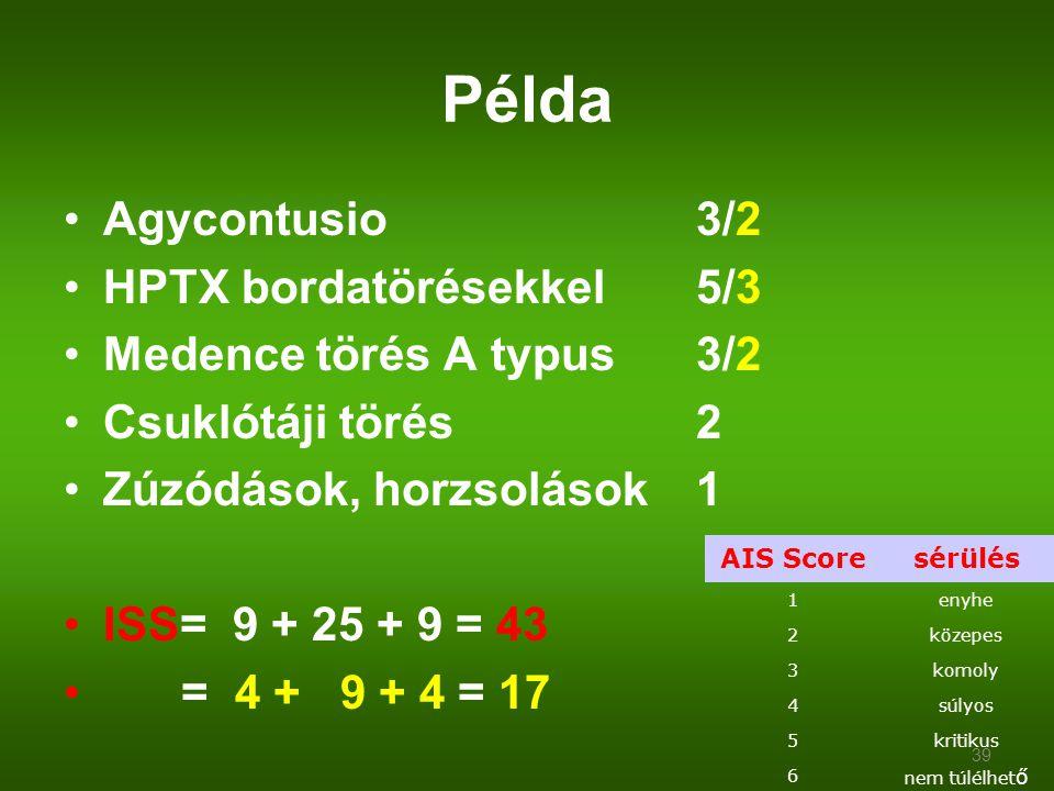 Példa Agycontusio 3/2 HPTX bordatörésekkel 5/3