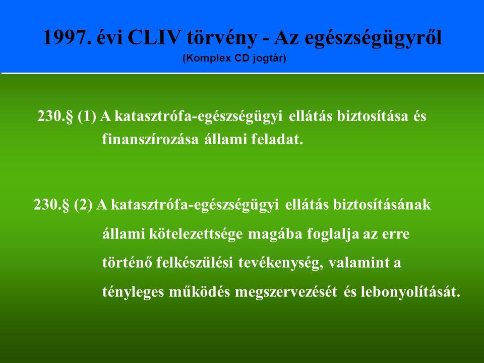 1997. évi CLIV törvény - Az egészségügyről