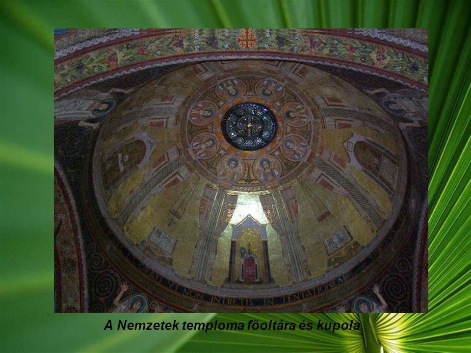 A Nemzetek temploma főoltára és kupola