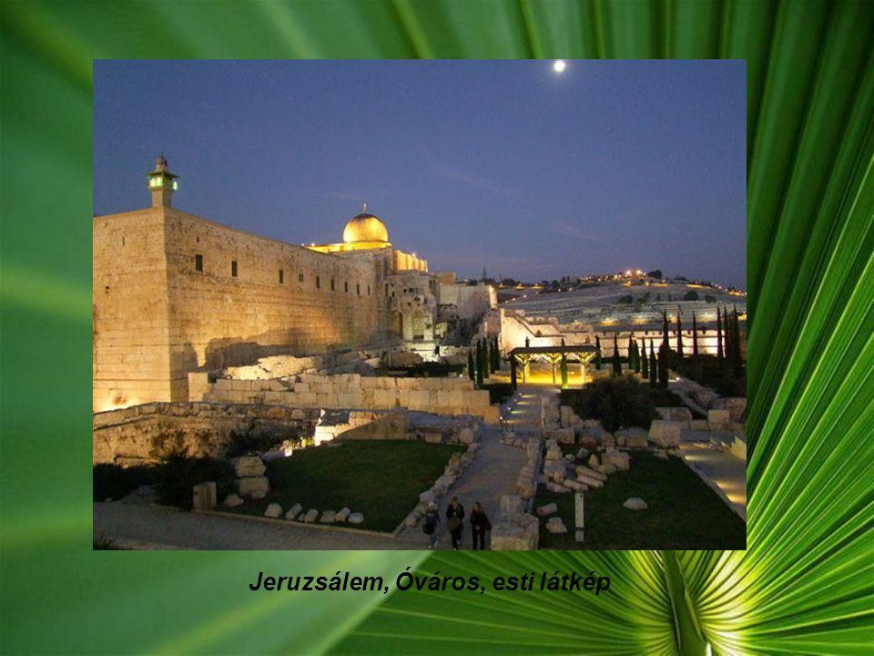 Jeruzsálem, Óváros, esti látkép