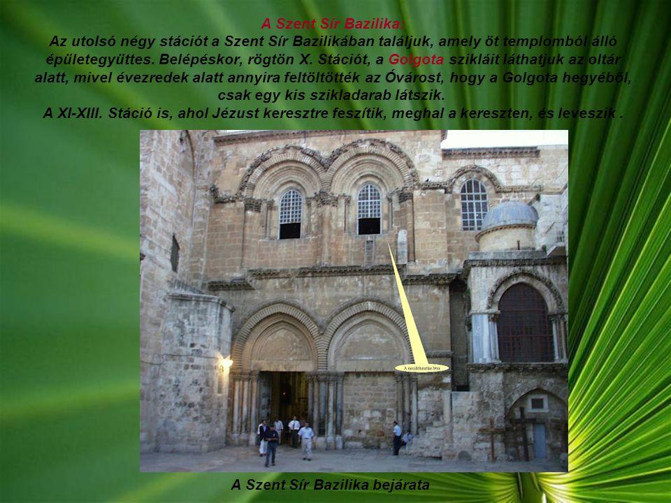 A Szent Sír Bazilika bejárata