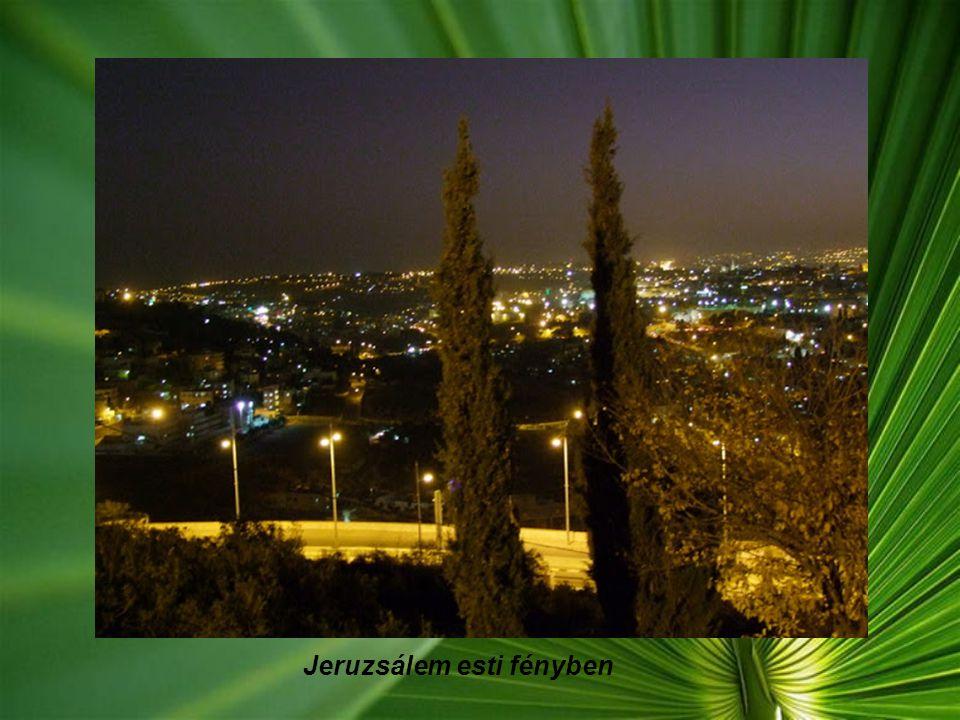 Jeruzsálem esti fényben