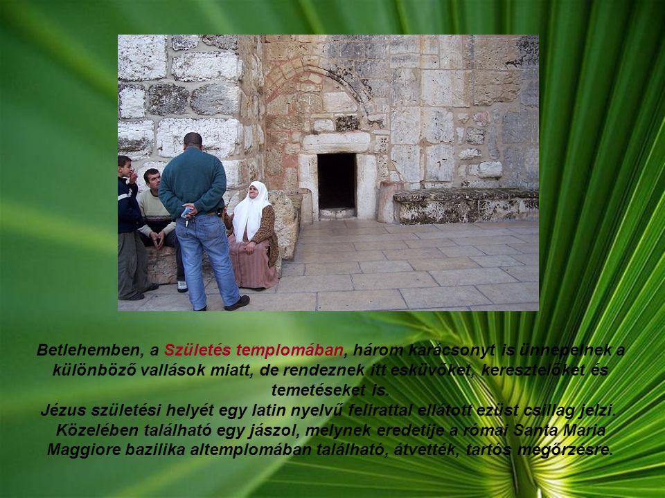 Betlehemben, a Születés templomában, három karácsonyt is ünnepelnek a különböző vallások miatt, de rendeznek itt esküvőket, keresztelőket és temetéseket is.