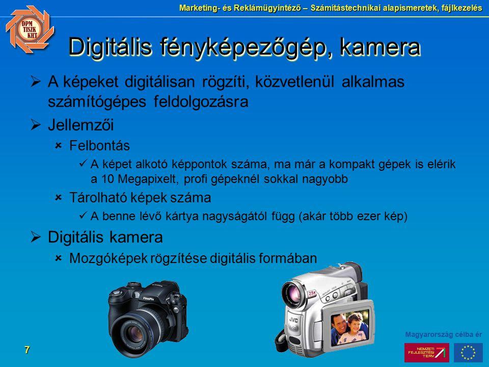 Digitális fényképezőgép, kamera