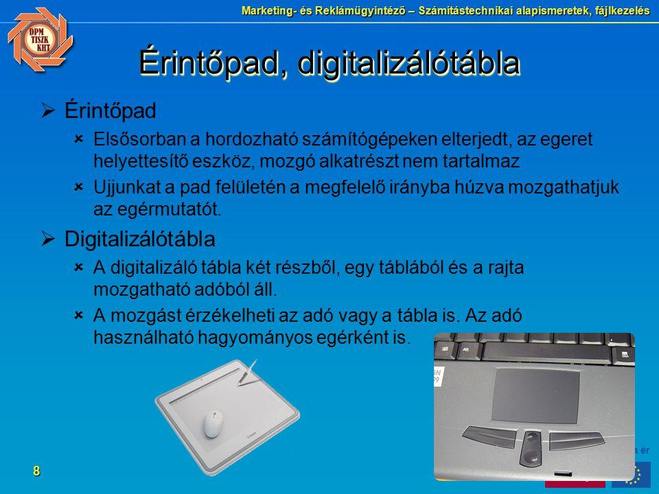 Érintőpad, digitalizálótábla