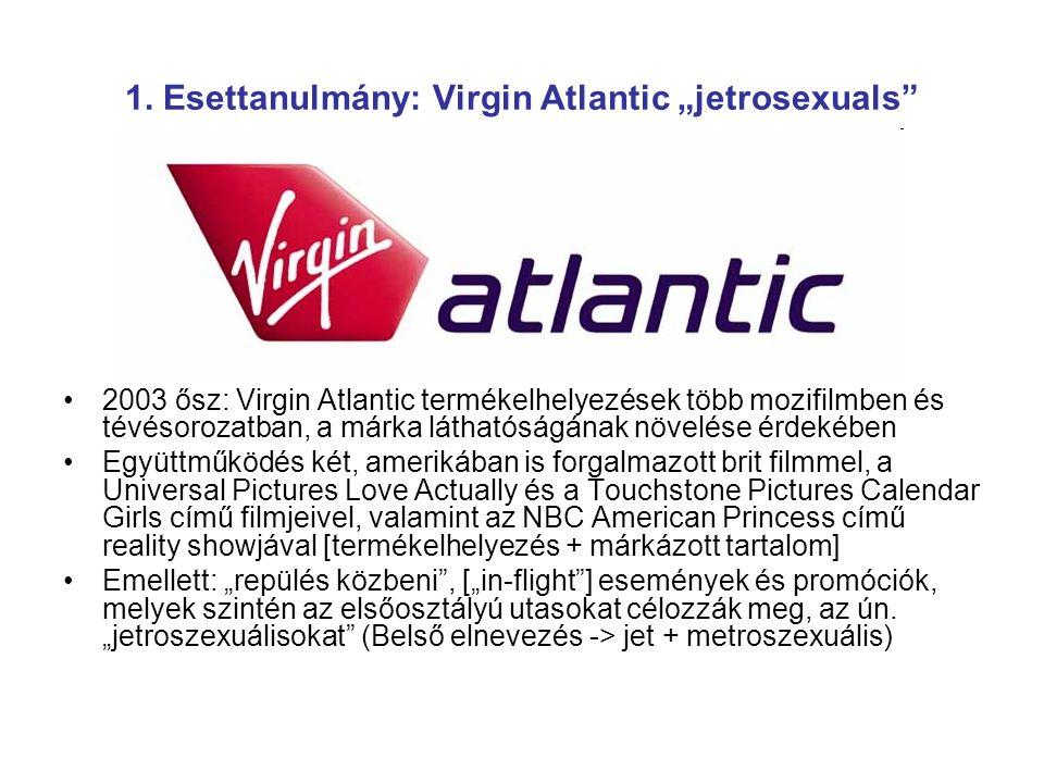 "1. Esettanulmány: Virgin Atlantic ""jetrosexuals"