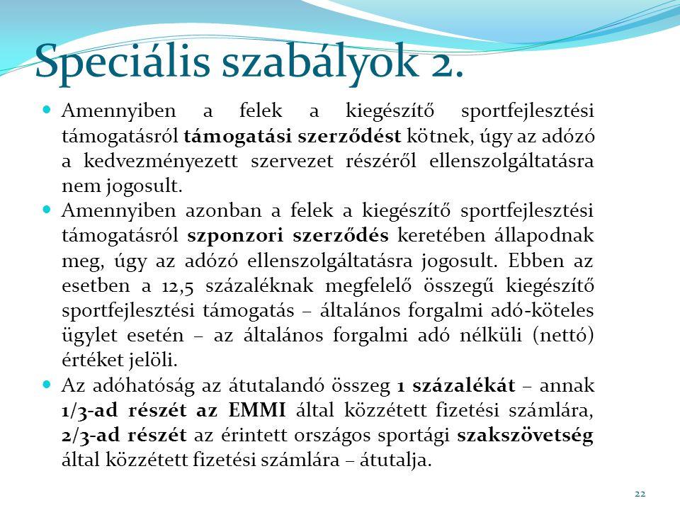 Speciális szabályok 2.