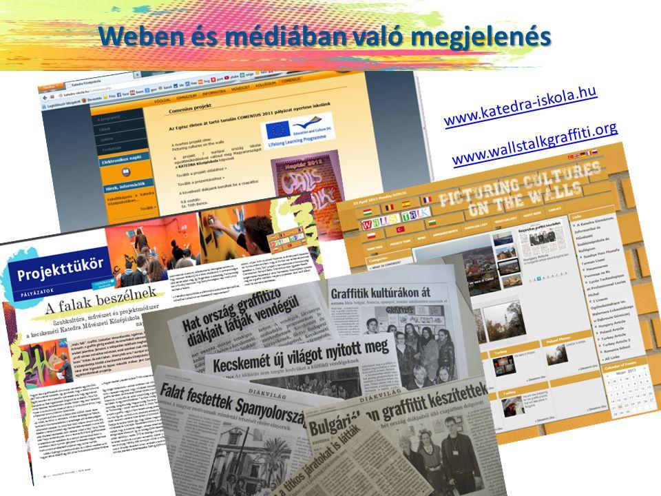 Weben és médiában való megjelenés