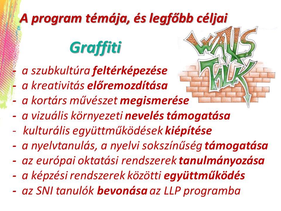 Graffiti A program témája, és legfőbb céljai