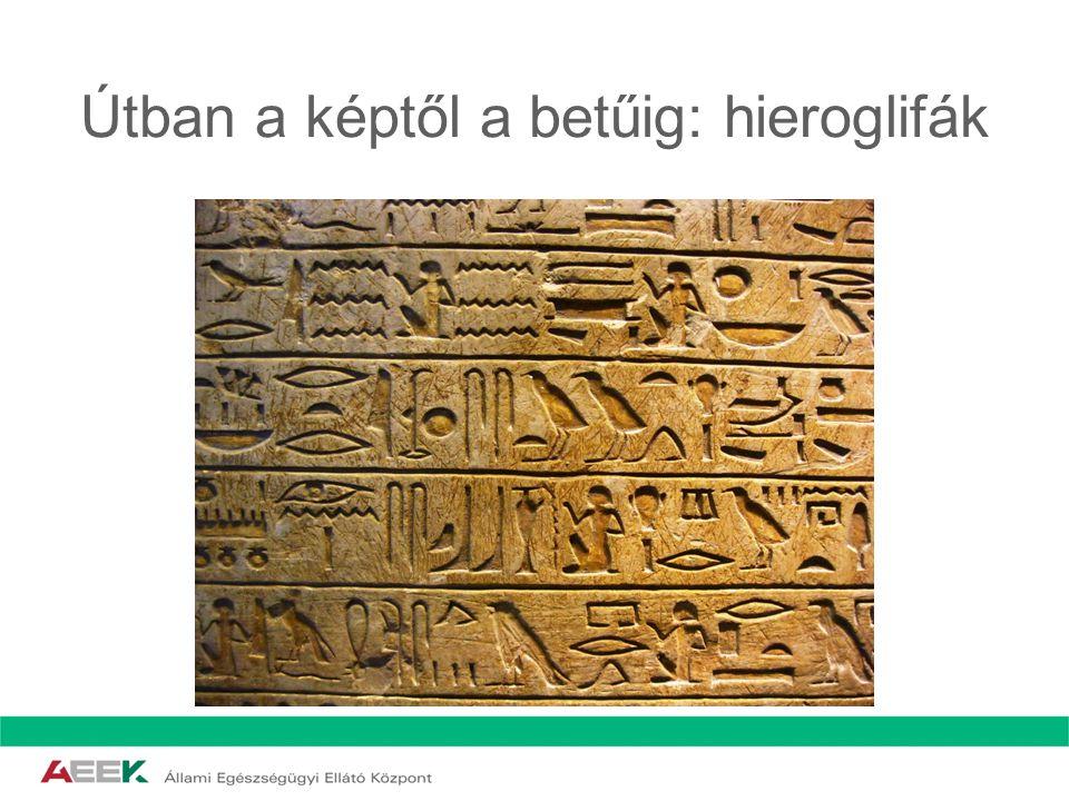 Útban a képtől a betűig: hieroglifák