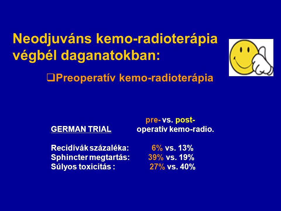Neodjuváns kemo-radioterápia végbél daganatokban:
