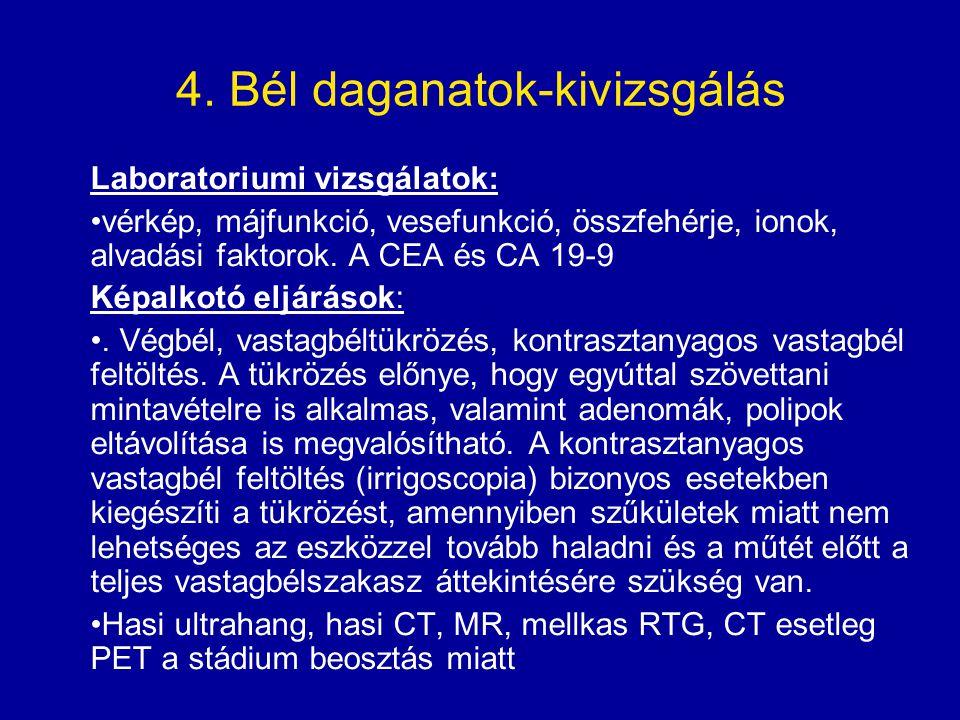 4. Bél daganatok-kivizsgálás
