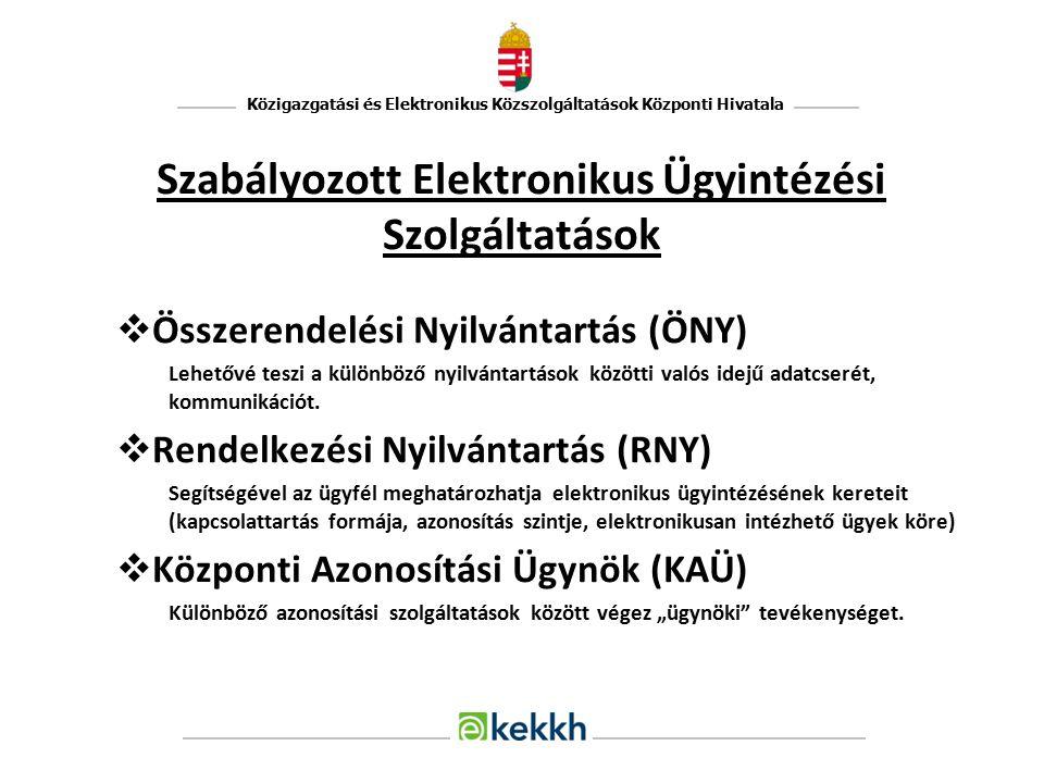 Szabályozott Elektronikus Ügyintézési Szolgáltatások