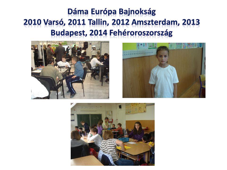 Dáma Európa Bajnokság 2010 Varsó, 2011 Tallin, 2012 Amszterdam, 2013 Budapest, 2014 Fehéroroszország.