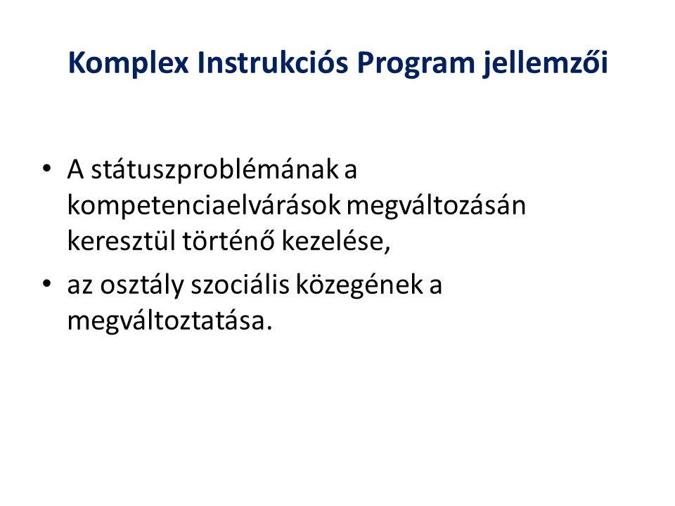 Komplex Instrukciós Program jellemzői