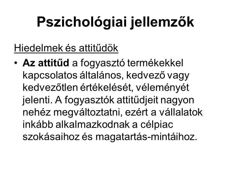 Pszichológiai jellemzők