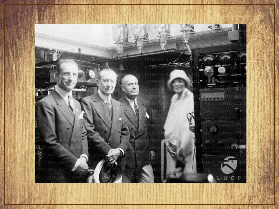 Benito Mussolini volt Marconi tanúja, amikor másodszor házasodott, 1927-ben.