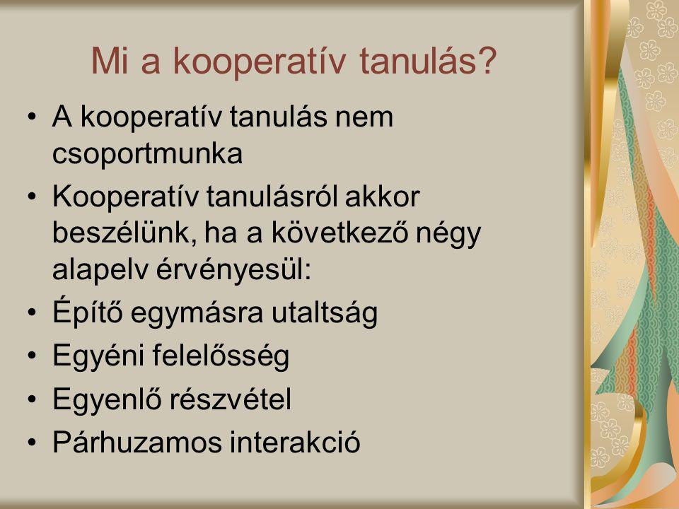 Mi a kooperatív tanulás