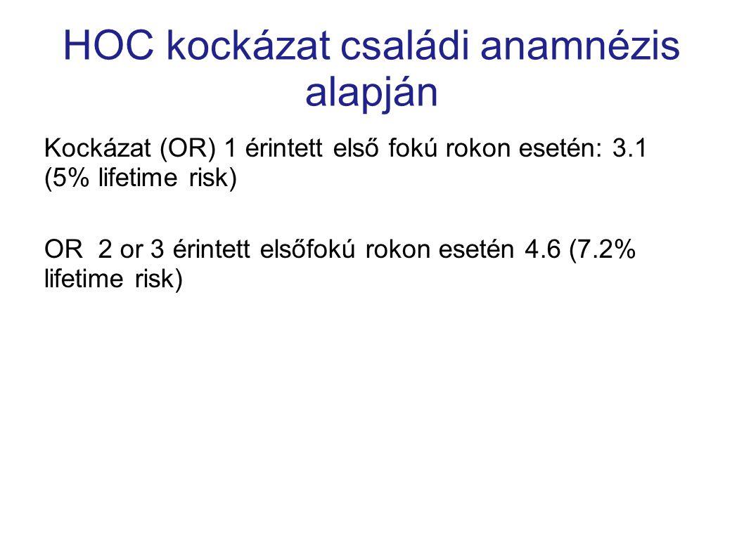 HOC kockázat családi anamnézis alapján